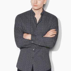John varvatos Pintuck Stitched Trim Fit Shirt LRG